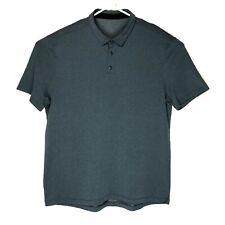 Lululemon Men's Aqua/Gray Polo Size XL Stretch
