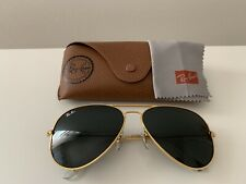 Ray ban aviator sunglasses ,3026, 62 mm large, Gold Frame/ Black Lens.