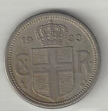 ICELAND,  1933,  25 AURAR,  COPPER NICKEL,  EXTRA FINE,  KM#2.1