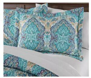 Mainstays Green Multicolor Paisley Standard / Queen Sham Pillowcase