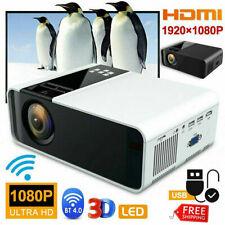 Portable 1080P Mini Wifi Bluetooth LCD Movie Projector Home Theatre HDMI USB AV