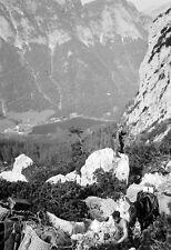 Gebirgsjäger-Gebirgs-Division-Maultier Transport am Blaueis-Berchtesgaden-22