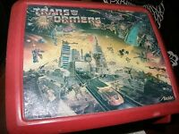 2383) Trans Formers Motif Plastic Lunchbox Hasbro 1986