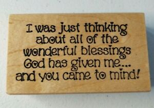 Darcies ~ L3084 I was just thinking of all the wonderful blessings Stamp ~ A10