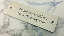 TÜRSCHILD Aluminium in Edelstahl-Look - 80x27mm rechteckig - mit WUNSCHGRAVUR