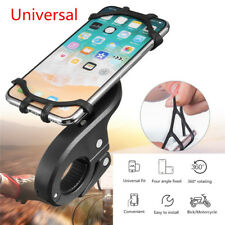 Universal Motorcycle Bicycle ATV 360°Rotatable Phone Holder Mount Stand Silicone