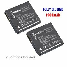 2x Kastar Battery for Panasonic Lumix DMW-BCF10 DMC-FH3 DMC-FT1 DMC-FT3 DMC-FT4
