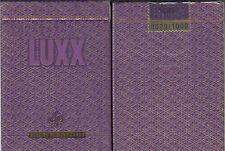 LUXX Elliptica Purple Playing Cards Poker Size Deck LPCC Custom Limited Edition