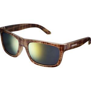 Shimano Tokyo Glasses - Brown Tortoise - Smoke Orange Mirror Lense