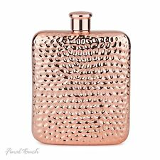 Final Touch Copper Plated Luxe Drinking Hip Flask with Screw Cap Holds 175ml 6oz