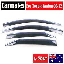 Weather Shield Visor For Toyota Aurion 06-12 4 Doors double sided tape clips AU