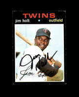 Jim Holt Hand Signed 1971 Topps Minnesota Twins Autograph
