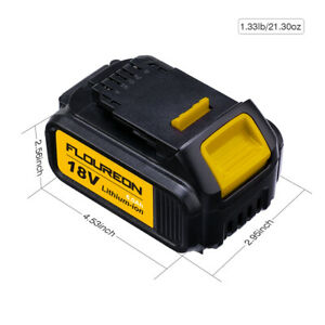 2PACK 18V 6.0Ah Battery compatible with DEWALT 18V DCB200, DCB181 DCB182, DCB184