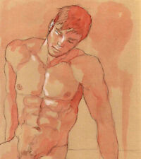ORIGINAL MALE NUDE solluble sanguine - HUGH - by GERMANIA
