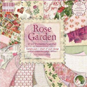 ROSE GARDEN Dovecraft 6 x 6 Sample paper pack Please Read Description & pictures