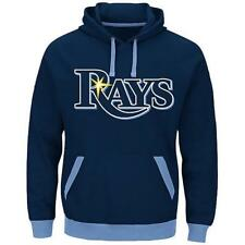 Tampa Bay Rays Pullover Hoodie 3XL Navy Fully Embroidered Cursive Logo MLB