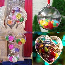 plastica rotondo cuore Palla Natale Trasparente gingillo ornamento REGALO