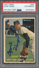 1957 Topps #365 Ozzie Virgil PSA/DNA Certified Authentic Signed Auto *3643
