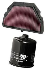 K&N Motorcycle Air Filter + Oil Filter Combo HA-6099 + KN-303