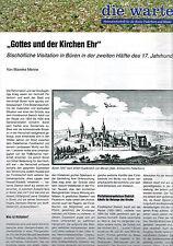 Menne, Bischöfliche Visitationen Büren i 17. Jhd., Die Warte 131, Paderborn 2006
