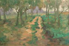 """Petr Mirčev (*1968 Tschechien) """"Cesta Aleji"""" Allee Neoimpressionismus 1996"""