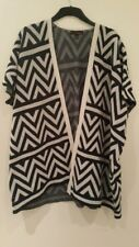 Women's Tom Tailor Denim Navy White Cardigan- One Size-Excellent Condition
