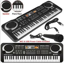 Usb 61 Keys Digital Music Electronic Keyboard Organ Piano Set w/Microphone Gift
