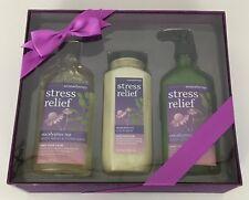 Bath & Body Works Aromatherapy Stress Relief Set Eucalyptus Tea Lotion Body Wash