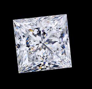 4.3mm VS CLARITY PRINCESS-FACET NATURAL AFRICAN DIAMOND (E/F COLOUR)