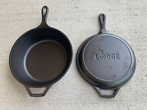 """Lodge (8CF) Cast Iron 10-1/4"""" Skillet With  Dutch Oven Lid (New)"""