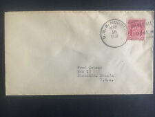1932 US Navy Post Office Shanghai China Cover to USA USS Houston