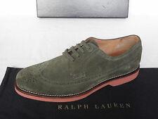 NEW Mens RALPH LAUREN Green Suede Derby Lace Up Wingtips Shoes UK 9 E EU 43 £391
