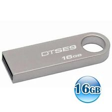 KINGSTON 16GB 16G Data Traveler DT SE9 USB Flash Pen Key Ring Drive Memory Stick