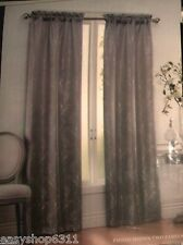 "TWO TONAL JACQUARD WINDOW ROD POCKET PANELS PAIR 76""X 84""  NEW IN BAG"
