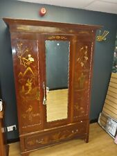 More details for antique wardrobe and dressing table in the chinese style circa 1900