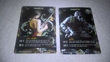 Resident Evil Deck Builder Game - Foil Promo Hunk CH-015 & Ada Wong CH-006