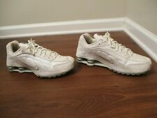 Used Worn Size 11 Nike Shox R4 Shoes White & Silver
