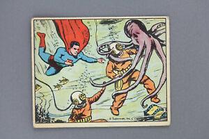 1940 SUPERMAN GUM CARD #47 HORROR BENEATH THE SEA HI NUMBER ORIGINAL