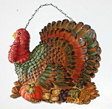 "Thanksgiving wall hanging décor colorful Turkey figure 10""x8"" lightweight foam"