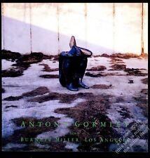1988 Antony Gormley sculpture photo LA gallery show vintage print ad