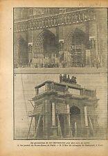 Protection de Paris Notre-Dame Arc de Triomphe Carroussel  WWI 1918 ILLUSTRATION