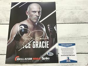 Royce Gracie Signed Bellator Promo Photo BAS Beckett COA Autographed b