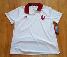 Womens Adidas Indiana Hoosiers S/S Clima Cool Polo Shirt Sz XL X-Large New NWT