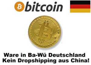 ★ Bitcoin Münze Medalie Gold Goldbarren vergoldet Goldmünze Platin Palladium