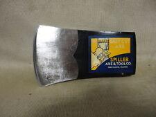 Vntg Ax Head w/ Original Spiller Axe & Tool Co Oakland Maine Easy Cut Label 2 lb