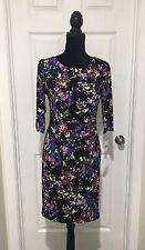 Connected Apparel Black Women's 10P Petite Color Block Sheath Dress $69 B6-6