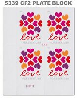 5339 (CF2) Postal Counterfeit Love Hearts Blossom Plate Block 2019 MNH - Buy Now