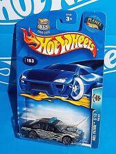 Hot Wheels 2003 Roll Patrol Series #163 Police Flat Black w/ 10SPs