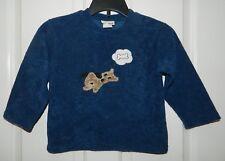 CACHCACH Cach boys Navy Blue PUPPY DOG Sweater Shirt* 4T