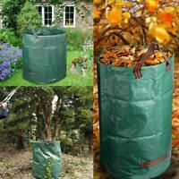Yard Garden Leaves Basket Reinforced Weave Trash Garbage Container Rubbish Bags